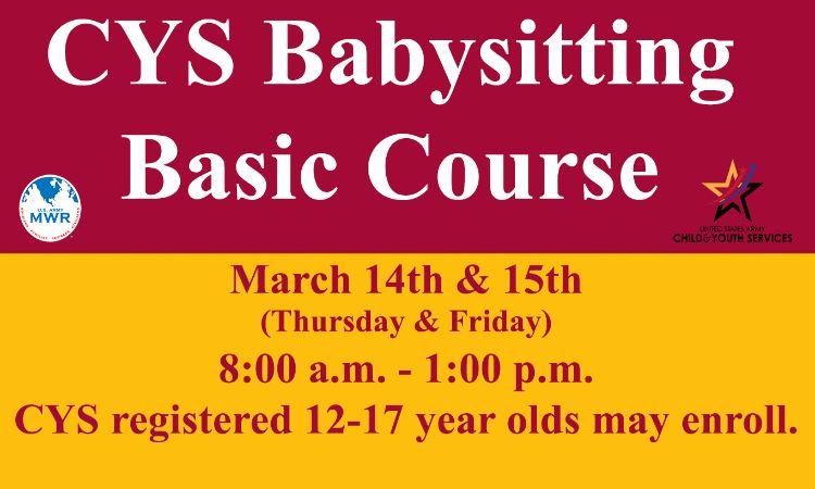 CYS Babysitting Basic Course