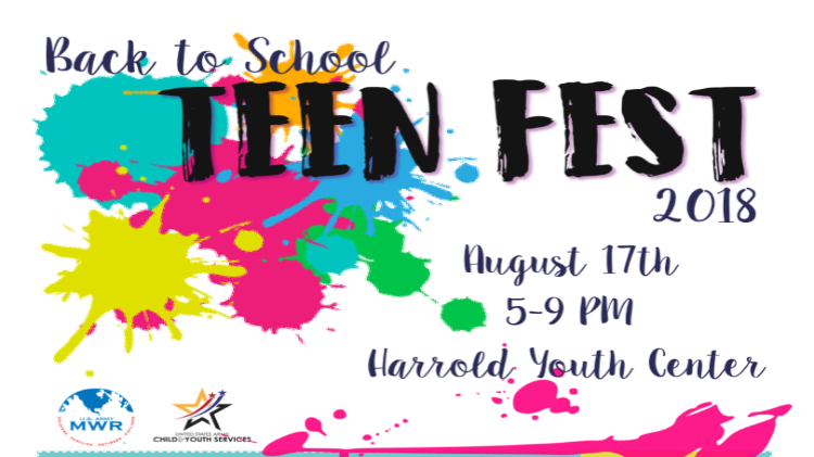 Back to School Teen Fest 2018